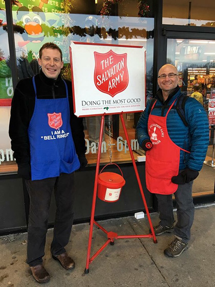 Bell Ringers for the Salvation Army!